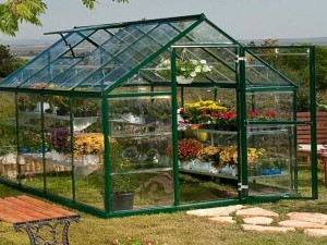 Greenhouse-Plans-Green-Paint-Frame
