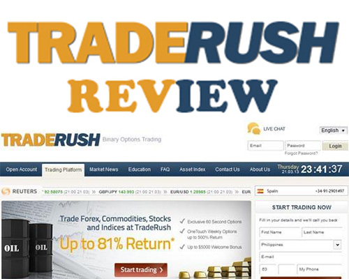 Traderush binary options reviews
