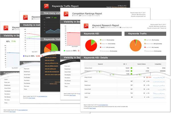 rank tracker reports