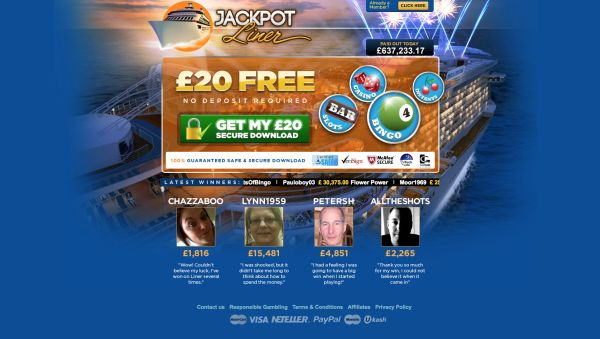 Jackpot Liner Bingo Review – Is this A Scam Site to Avoid