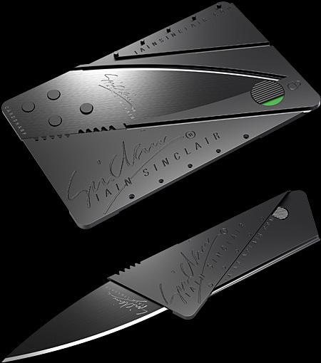 Credit Card Knife Cons