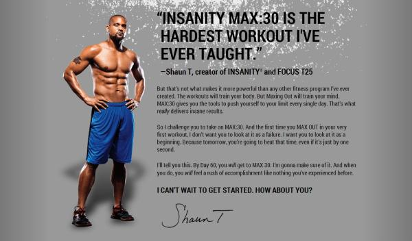 Insanity Max 30 Cons
