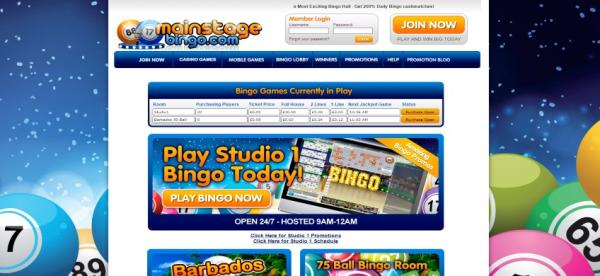 MainStage Bingo withdrawal