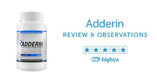 Adderin ingredients