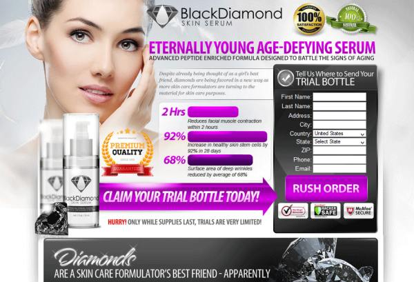 Black diamond skin serum reviews