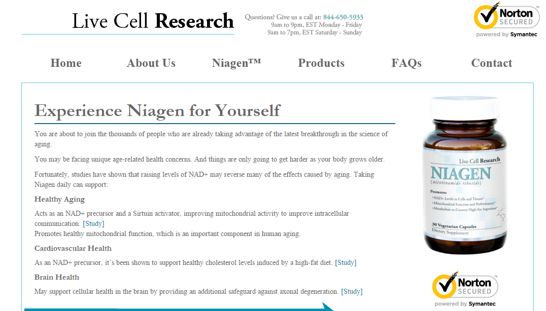 Live Cell Research Reviews Niagen And It S Benefits