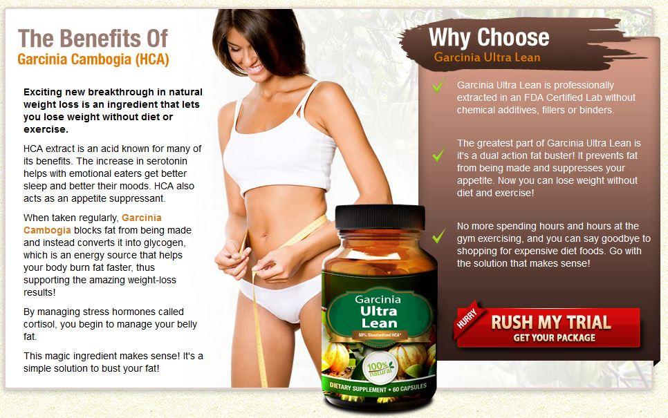 Garcinia Ultra Lean Pros