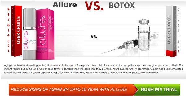 Allure Eye Serum Pros